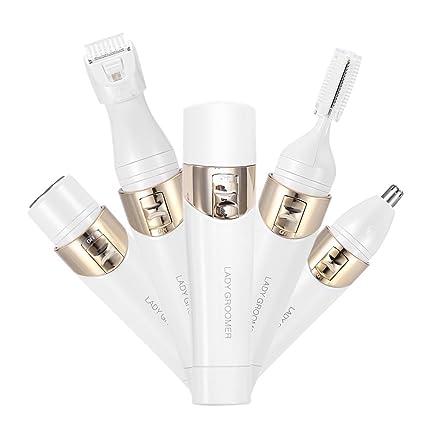 Depiladora 4 En 1 Eléctrica depilar Facial Nariz +cabeza de Afeitadora Vello Mujer y Cepillo