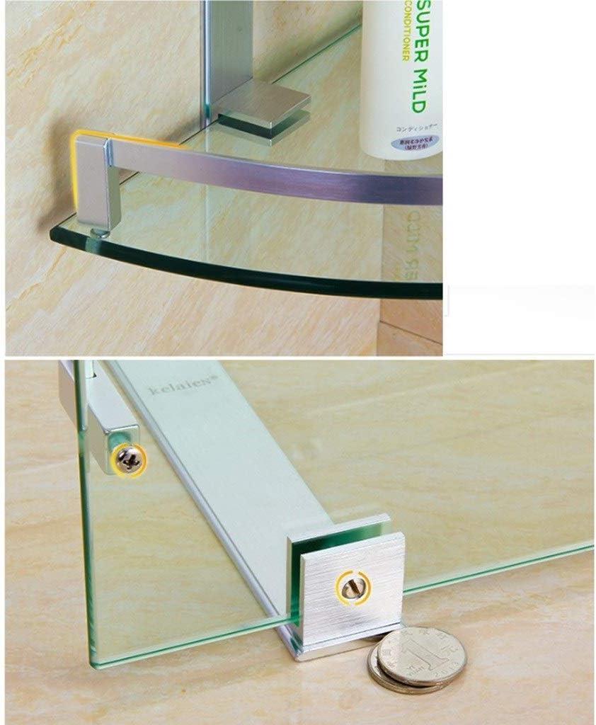 ✨ Etag/ère de douche dangle de salle de bain 3 niveaux en verre organisateur /étag/ères Triangle de support en aluminium Caddy Anodis/é YueB HBD Size : 200mm