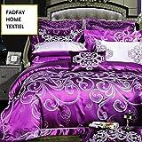 FADFAY Home Textile,Luxury European Western Style Bedding Sets,Purple Queen Comforter Set,Purple Bedding Set,Purple Duvet Cover Set Queen,10Pcs