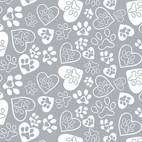 Cat Fabric - Flannel - Kitten's Meow - Pawprints - Iron - 100% Cotton Flannel - by The Yard