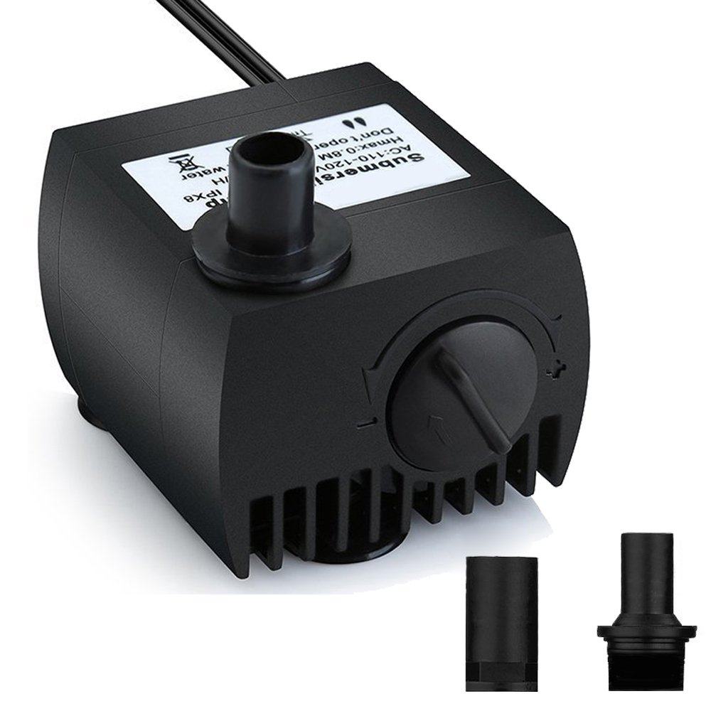 Maxesla Submersible Pump 265 GPH (1000L/H) Fountain Water Pump For Pond/Aquarium/Fish Tank/ Statuary/Hydroponics with 5.9ft (1.8M) Power Cord