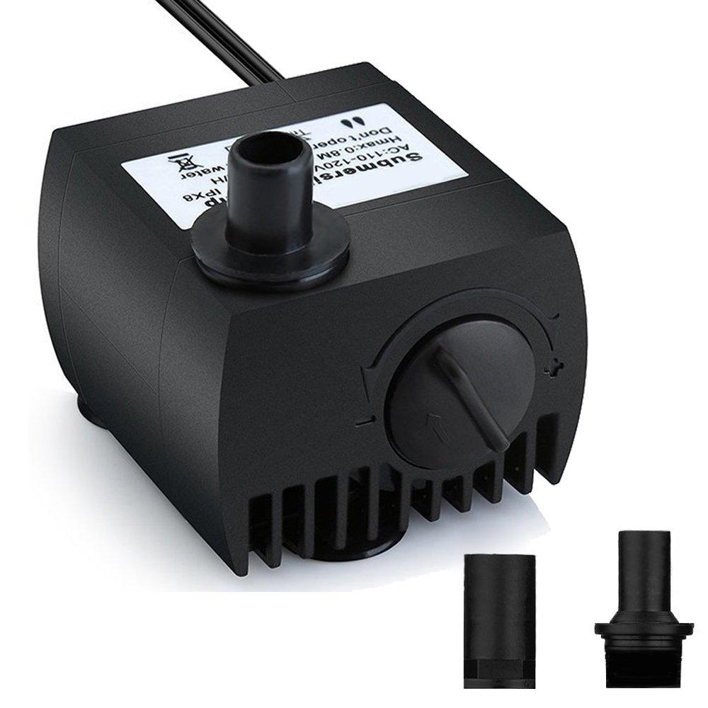Maxesla Mini Bomba de Agua Ultra Silencioso 300L/H Bomba Sumergible 3W Bomba de Circulación