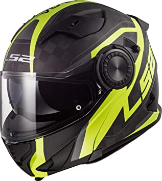 Amazon.es: LS2 Casco Moto FF313 Vortex Frame Carbon Hi Vis ...