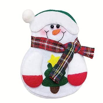 DDG EDMMS 1 Pieza de Navidad Hecho a Mano Decorativa cubertería Rack muñeco de Nieve Herramienta