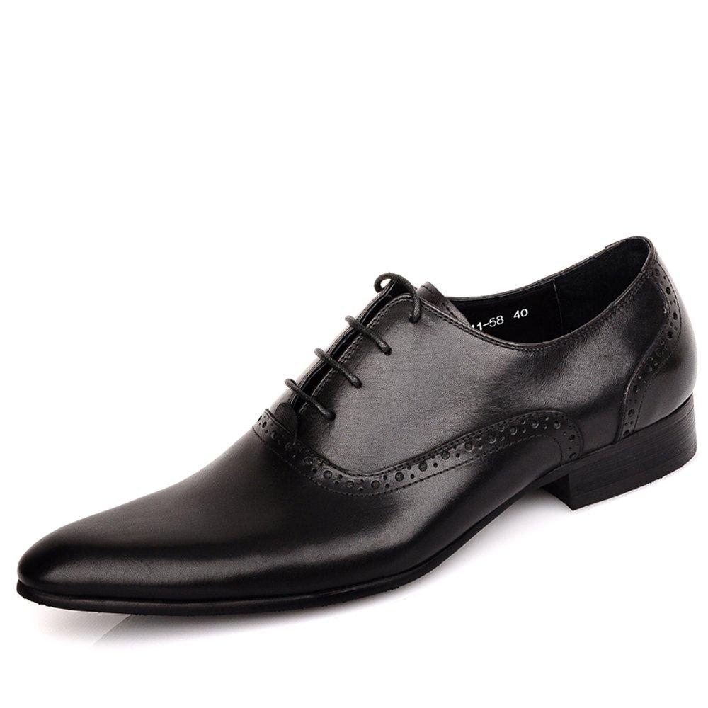 Fulinken Men S Leather Classic Oxford Shoes Formal Dress Shoes
