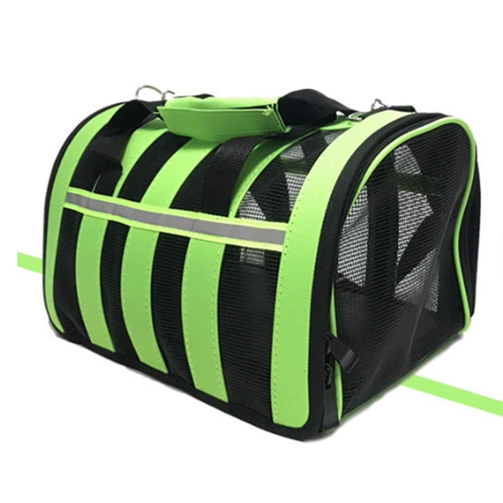 Green 2023.526cm Green 2023.526cm Pet Outing Bag Fashion Dog Bag Cat Bag Pet Bag Breathable Outcrop Dog Backpack Hand (color   Green, Size   20  23.5  26cm)
