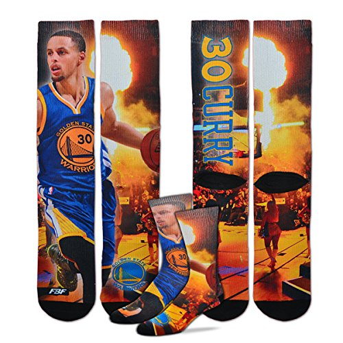 Golden State Warriors Youth Size NBA Starting Lineup Kids Socks (4-8 YRS) 1 Pair - Stephen Curry #30