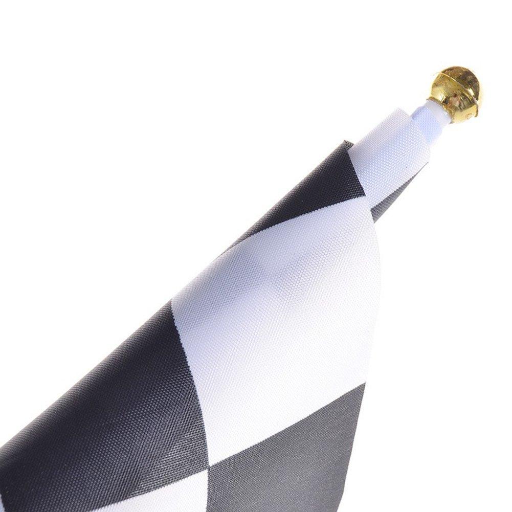 Blanc//Drapeau de Moto Formule 1 Racing Banner Racing Thema Party D/écoration Kentop 10Pcs Drapeau de Course Noir Blanc//Noir