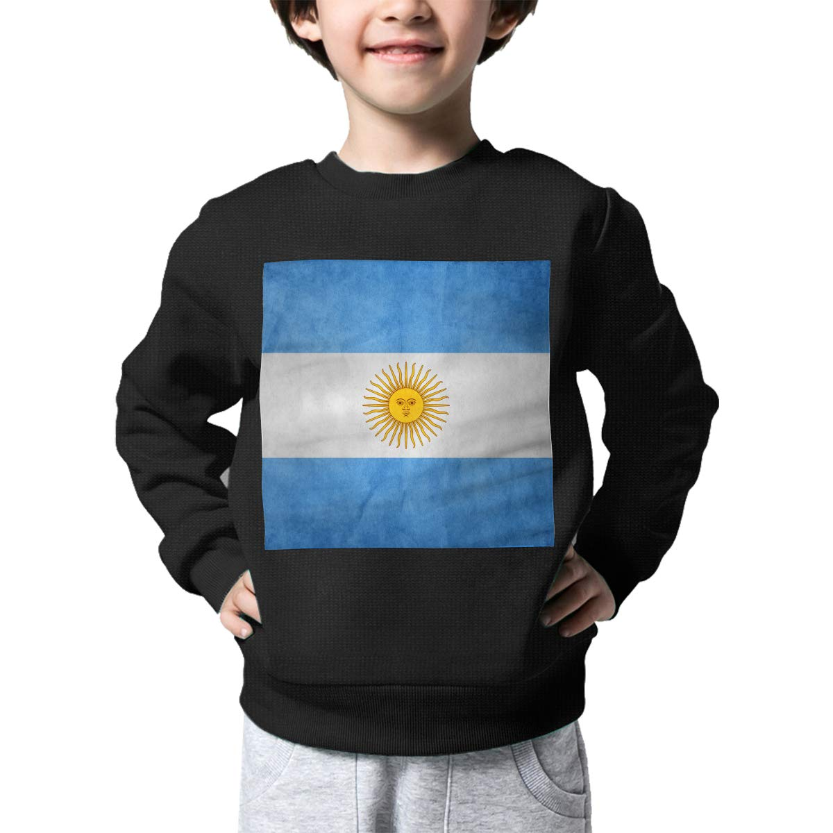 Boys Girls Vintage Argentina Flag Lovely Sweaters Soft Warm Unisex Children Kids Sweater