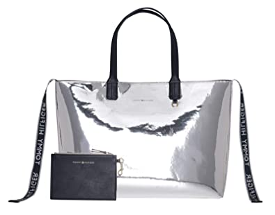 468f3287 TOMMY HILFIGER Iconic Medium Tote Metallic/Tommy Navy: Amazon.co.uk: Shoes  & Bags