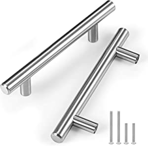CZC HOME 10 Pack 6 Inch Cabinet Pulls, Stainless Steel Drawer Handles, 3.75