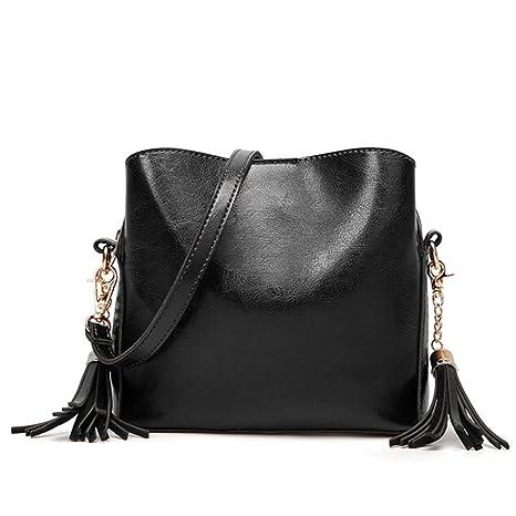 dacf4cba6541 Amazon.com: Women's Shoulder Bag Fashion Diagonal Tassel Oily ...