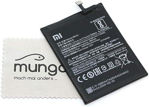mungoo - Batería para Xiaomi Original BN44, para Xiaomi Redmi Note 5, Redmi Note 5 Plus, con paño de limpieza de pantalla: Amazon.es: Electrónica