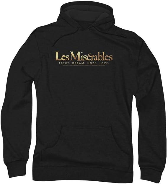 Les Miserables - Logo Hombres sudadera con capucha, X-Large, Black: Amazon.es: Ropa y accesorios
