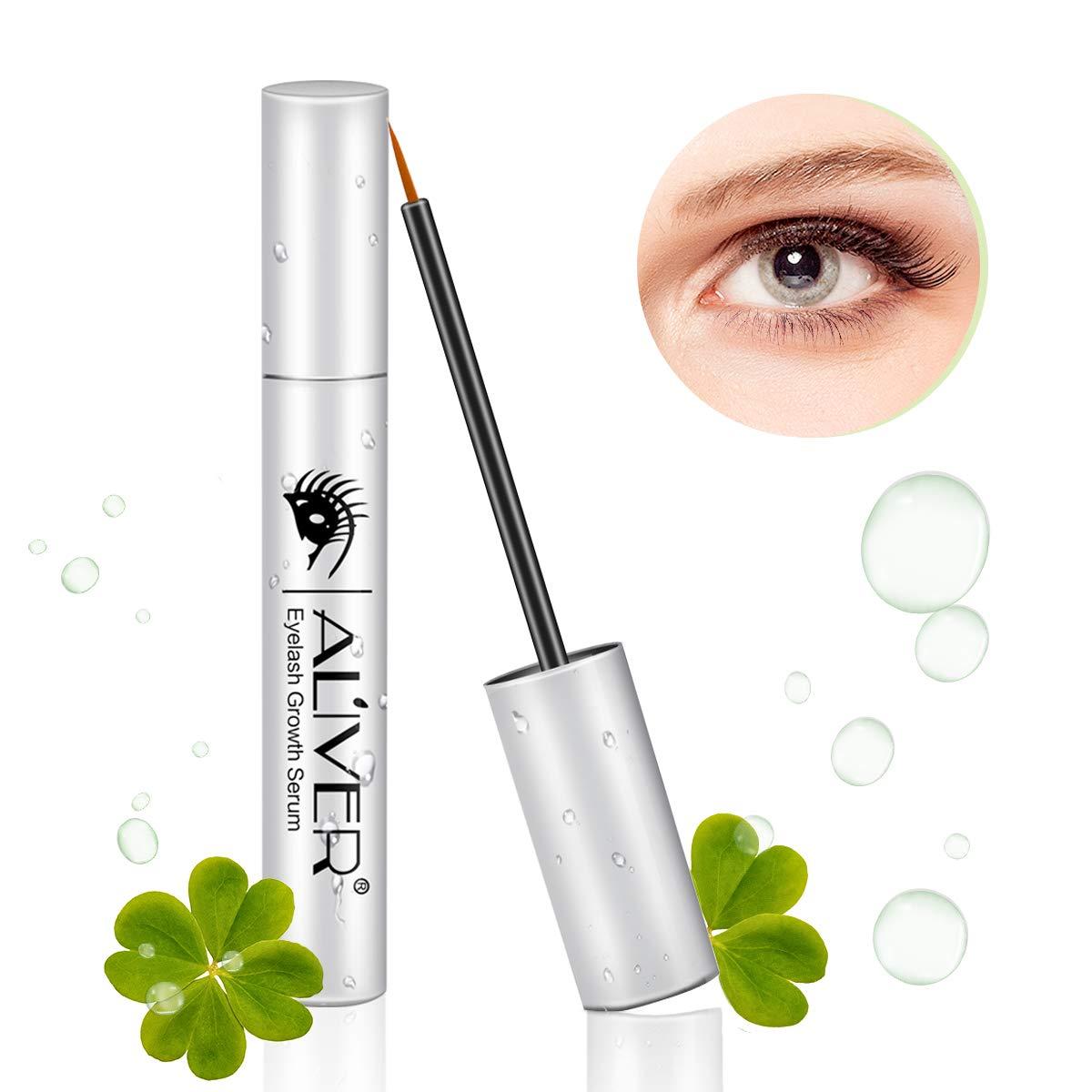 Eyelash Growth Serum, Natural Eyebrow Enhancer, Brow & Lash Enhancing Formula for Longer, Thicker Eyelashes and Eyebrows 5ML