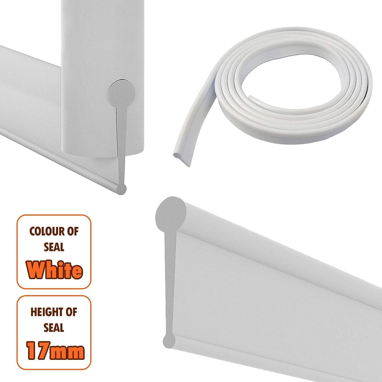 Blanco de la ducha Junta para puertas plegables: Amazon.es ...