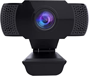 Ittiot 1080P Webcam with Microphone, PC Laptop Desktop Computer USB 2.0 Full HD Web Camera for Video Calling, Studying, Conference, Recording, Gaming with Rotatable Clip