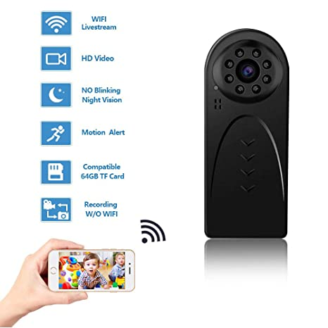 f00c7cf3da Amazon.com   Mini WiFi Spy Camera Wireless Hidden