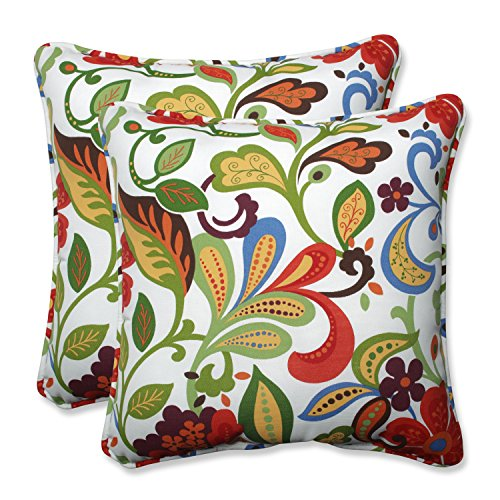 Pillow Perfect Outdoor / Indoor Wildwood Garden 18.5-inch Th