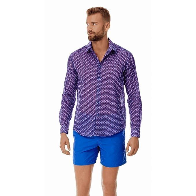 VILEBREQUIN Camisa Lisa de Gasa de Algodón - Hombres: Amazon.es: Ropa y accesorios