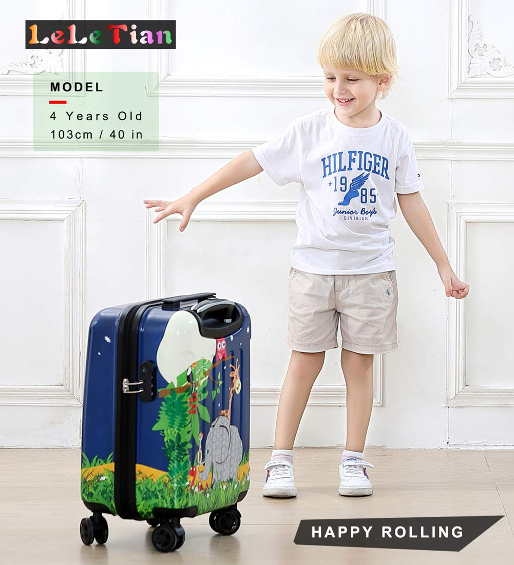 Boys Luggage Anti-scratch Suitcase 19in Hardshell Spinner Carry on PC+ABS Elephant LeLeTian by LeLeTian (Image #8)