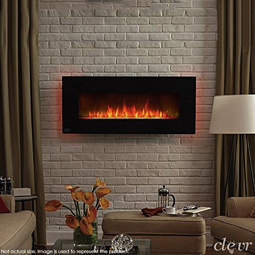 Clevr 750 1500w 39 Adjustable Electric Wall Mount Fireplace Heater