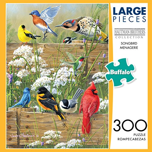 Buffalo Games Hautman Brothers - Songbird Menagerie - 300 Large Piece Jigsaw Puzzle by Buffalo Games (Image #1)