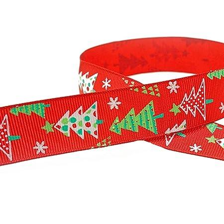 Cinta de Navidad para manualidades - 45 m de grogrén de satén de ...