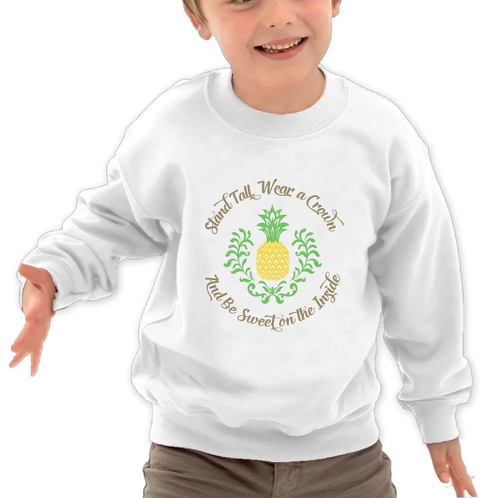 Mkajkkok Be A Pineapple Its Everyday Bro Kids Fashion Round Neck Long Sleeve T-Shirts