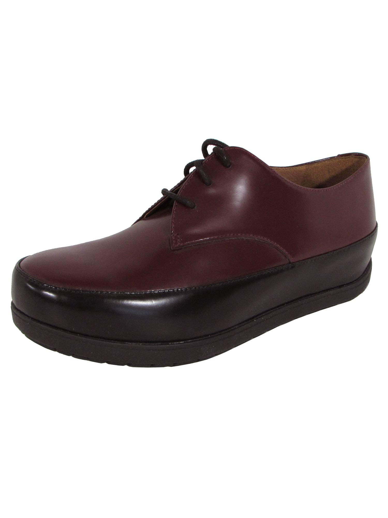 FitFlop 421 Womens Beau Derby Dress Shoes, Hot Cherry - 7.5