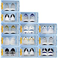 12-Pack Stackable Shoe Storage Container Deals