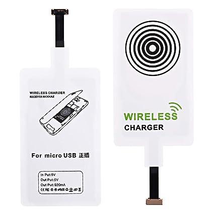 Amazon.com: Receptor de carga inalámbrico ultra delgado Qi ...