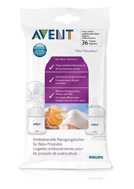 Philips-Avent SCF295/36 - Toallitas antibacterias para chupetes o biberones (36 unidades)