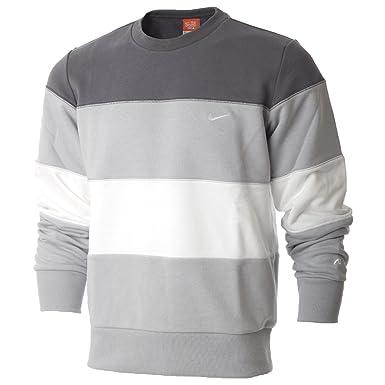 Nike Mens Triband Fleece Crew Neck, Sweatshirt (X-Large, Grey ... 4102f77849