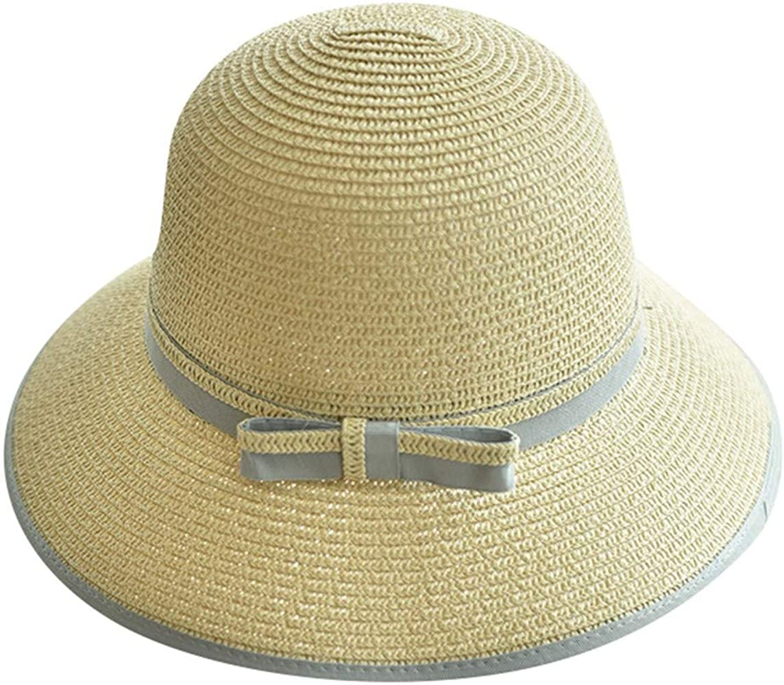 Señoras de Las Mujeres de Verano de ala Ancha Sombrero de Paja ...