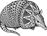 Armadillo Totem Animal Home Decal Vinyl Sticker 14'' X 11''