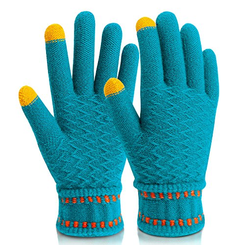 Mitten Gloves,Mossio Winter Gloves Lined with Touchscreen Warm Fingers Blue