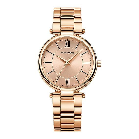 Relojes Pulsera Elegante Diamante De Imitación Números Romanos Relojes Mujer Acero Inoxidable Moda