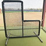 GAMERS SPORTS GROUP BASEBALL PADDED 7'x7' L SCREEN 2'' OD 14 GAUGE STEEL WITH 60 GAUGE HDPE NETTING
