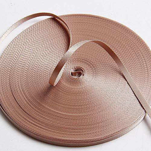 - Guangzhou Liman Webbing, Ribbon Apricot Nylon Grosgrain Webbing Decoration Strap DIY Belt 6.3mm