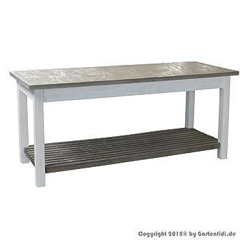 XXL Deko Holztisch Verkaufstisch Aus Fichtenholz Shabby Chic Landhausmöbel  Farbe Grün/weiß