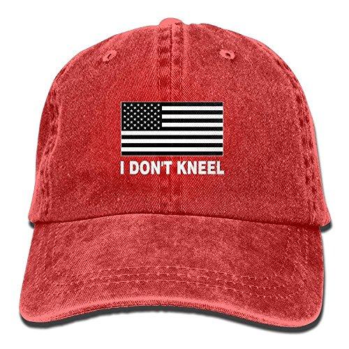 ruishandianqi Gorras béisbol I Don't Kneel Adult Denim Hat For Male Female Unisex,Boy's Females Sun Hat