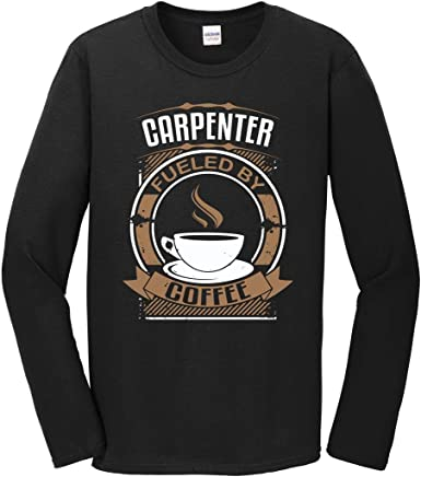 Carpenter Fueled By Coffee Funny Carpentry Graphic T-Shirt