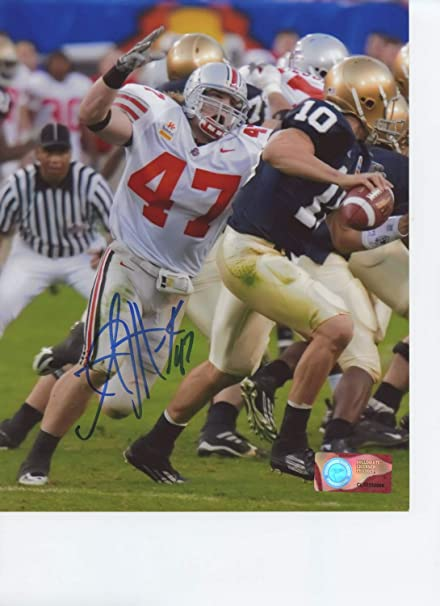 low priced 96538 abcd5 AJ Hawk Ohio State Buckeyes Autographed Signed 8x10 Photo - Certified  Authentic