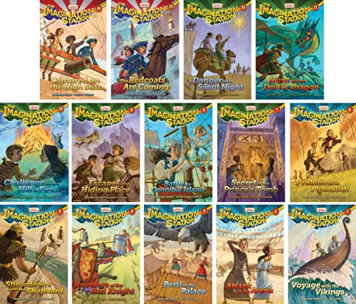 - Imagination Station Series - Adventures in Odyssey - Set of 14 - Volumes #1-14 Including Captured on the High Seas, the Redcoats Are Coming, Danger on a Silent Night, Hunt for the Devil's Dragon, Challenge on the Hill of Fire and More