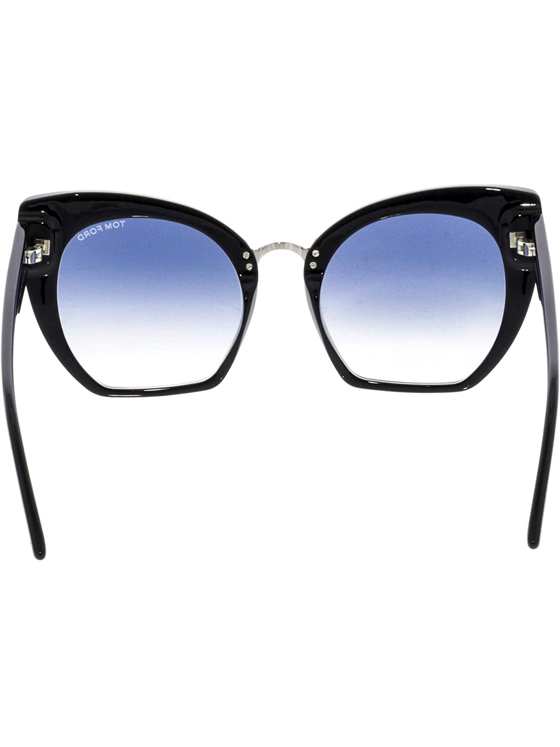 5c4a8d1113c90 Sunglasses Tom Ford FT 0553 Samantha- 02 01W shiny black gradient blue at  Amazon Men s Clothing store