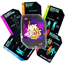 Hot Shots Basketball Drill Cards | 64 Waterproof Plastic Cards | Includes 45 Guided Drills, 9 Archetype Workouts, 5 Games, & 5 Info Cards | Great for Skills Training & Coaching in Youth & Adult Sports