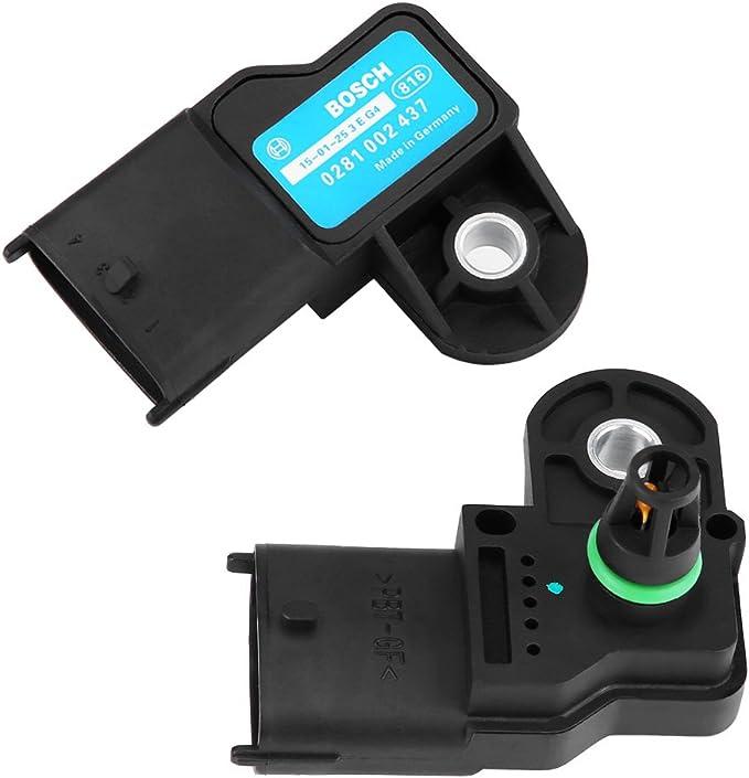 Ebtools Luftdrucksensor Auto Turbo Druck Sensor Krümmer Luftdrucksensor Für 0281002437 Für F Iat Für O Pel Z Afira B Osch Auto