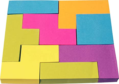 Various Unique Sticky Note Shapes with Assorted Color Sheets Package of 4