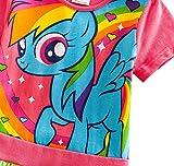 Lemonbaby My Little Pony Dress Colorful Striped Cartoon Girls Dress